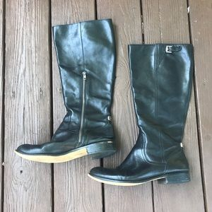 Coach Mirriam Black Leather Riding Boot (Size 9)